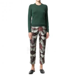 F.R.S For Restless Sleepers Farfalle Print Cropped Trousers