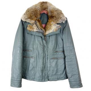 Zadig & Voltaire Kati Rabbit Fur Trim Jacket