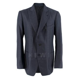 Tom Ford Shelton Navy & Black Houndstooth Jacket