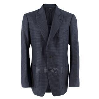 Tom Ford Shelton Navy & Black Houndstooth Jacket