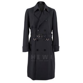 Dior Homme Virgin Wool Black Trench Coat