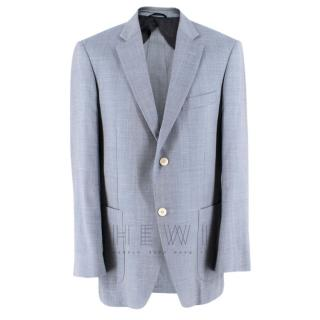 Balmain Men's Blue Wool Blend Blazer