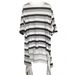 Balenciaga Striped Hi-Low T-Shirt