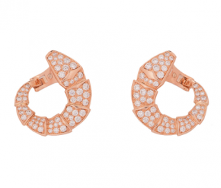 Bvlgari Diamond Encrusted Serpenti Earrings