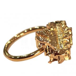 Noritamy Abstract Gold Tone Ring