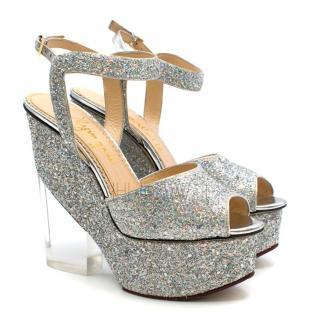 Charlotte Olympia Leandra Glitter Platform Sandals