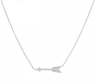Tiffany & Co. Diamond Arrow Pendant Necklace