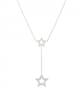 Tiffany & Co. Diamond Star Drop Necklace