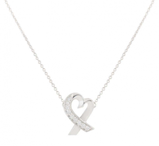 Tiffany & Co. Picasso Diamond Heart Pendant Necklace