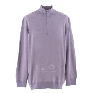 Loro Piana Purple Roadster Cashmere Sweater