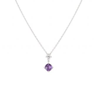 Cartier 18k Gold Amethyst Pendant Necklace