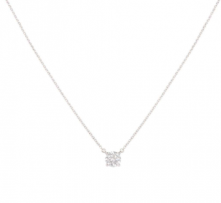 Tiffany & Co. Encrusted Pendant Platinum Necklace