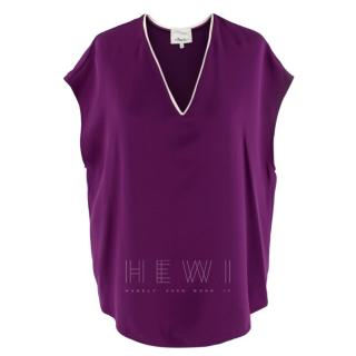 Philip Lim Purple Silk Sleeveless Top