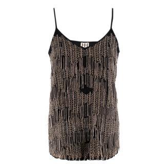 Haute Hippie embellished black camisole