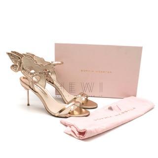 Sophia Webster Rose Gold Chiara Embroidered Sandals