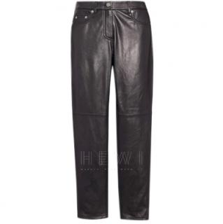 Coach Black Leather Pants