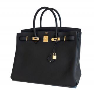 Hermes Black Togo Leather 40cm Birkin