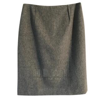Paule Ka Virgin Wool & Angora Pencil Skirt