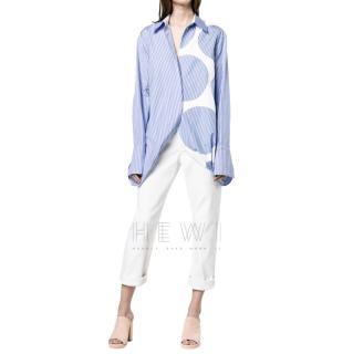 Stella McCartney manuela cotton multi-print shirt