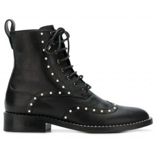Jimmy Choo Black Hanah Pearl Embellished Boots