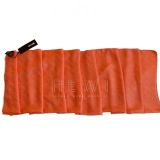 Just Cavalli Orange Logo Scarf