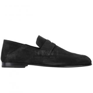 Harrys of London Black Suede Edward Loafers