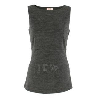 Prada Wool Blend Grey Sleeveless Top