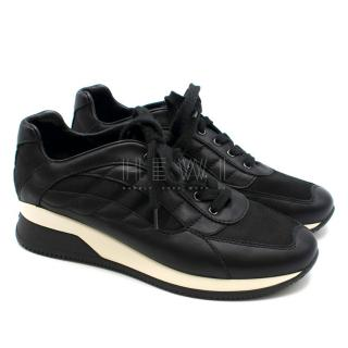 Hogan by Karl Lagerfeld black Leather sneakers