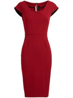 Roland Mouret Panelled Midi Dress in Red