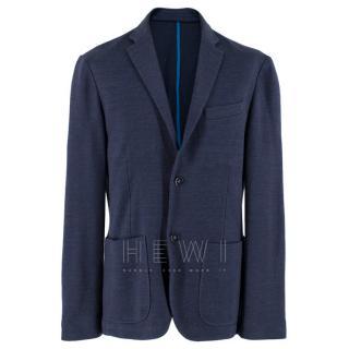 Harmont & Blaine Blue Linen Men's Blazer