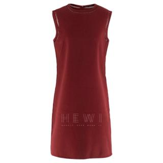Ermanno Scervino Red Sleeveless Wool Dress