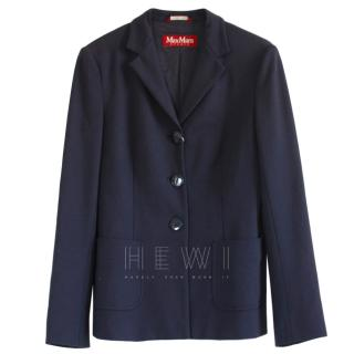 Max Mara Navy Tailored Blazer