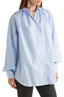 Tome oversized striped cotton-poplin shirt