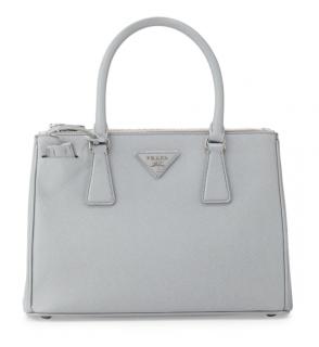 Prada Grey Saffiano Lux Tote Bag