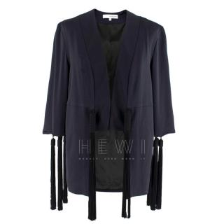 Galvan navy fringed jacket