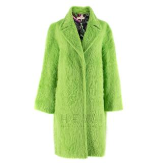 Emilio Pucci Green Alpaca and Wool Blend Coat