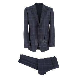 Tom Ford Men's Wool, Linen & Mohair Single Breasted Three Piece Suit