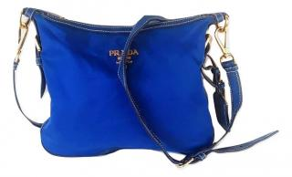 Prada Blue Tessuto Nylon Shoulder Bag