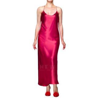 Maguy de Chadirac Fuchsia Silk Slip Dress