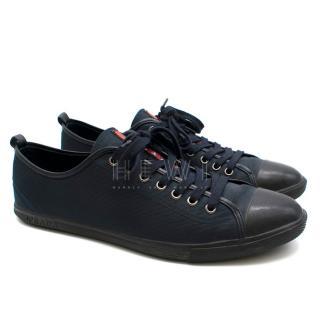 Prada Navy Canvas Men's Sneakers