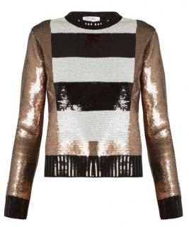 Max Mara mara striped sequin wool sweater