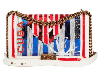 Chanel Sequin Embellished Cuba Medium Le Boy Bag