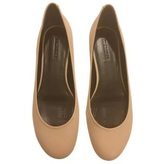 Jil Sander Nude Leather Ballerina Flats