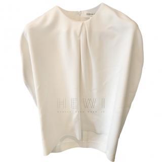 Eudon Choi White Sleeveless High Neck Top