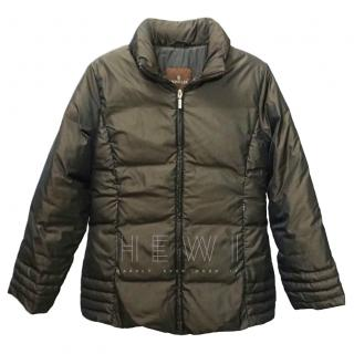 Moncler Goose Down Brown Puffer Coat