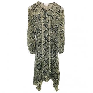 Zimmermann Silk Paisley Print Dress