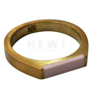 Ming Yu Wang Resin & Gold Plated Ring