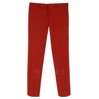 Hermes Red Men's Tailored Trousers
