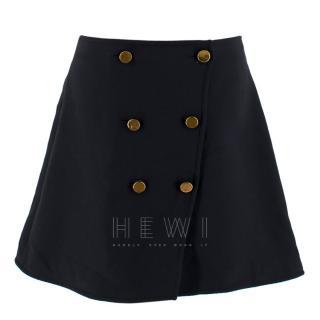 Louis Vuitton Button Front Mini Skirt