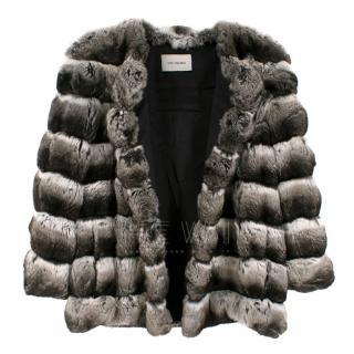 Yves Salomon Natural Chinchilla Fur Coat